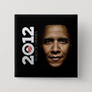 Bóton Quadrado 5.08cm Botão de Obama 2012