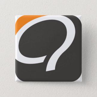 Bóton Quadrado 5.08cm Botão de Q - laranja