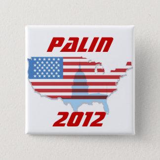 Bóton Quadrado 5.08cm Botão de Sarah Palin 2012