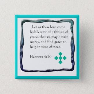 Bóton Quadrado 5.08cm Botão do 4:16 dos hebraicos