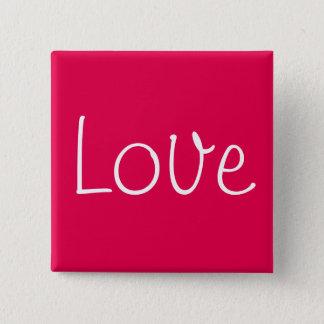 Bóton Quadrado 5.08cm Botão do amor