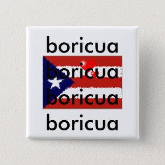Bóton Quadrado 5.08cm Botão do amor de Boricua
