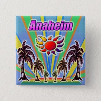 Bóton Quadrado 5.08cm Botão do amor do verão de Anaheim
