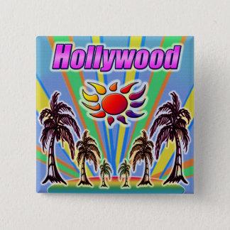 Bóton Quadrado 5.08cm Botão do amor do verão de Hollywood