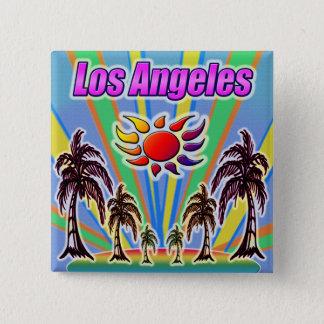 Bóton Quadrado 5.08cm Botão do amor do verão de Los Angeles