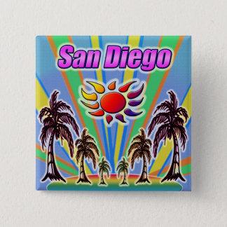 Bóton Quadrado 5.08cm Botão do amor do verão de San Diego