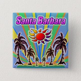 Bóton Quadrado 5.08cm Botão do amor do verão de Santa Barbara