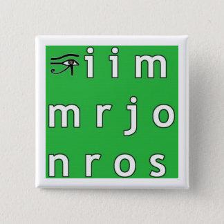 Bóton Quadrado 5.08cm Botão do anagrama de Jim Morrison