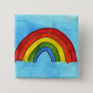 Bóton Quadrado 5.08cm Botão do arco-íris