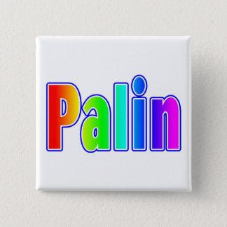 Bóton Quadrado 5.08cm Botão do arco-íris de Palin