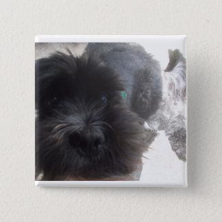 Bóton Quadrado 5.08cm botão do cão (cocker spaniel)