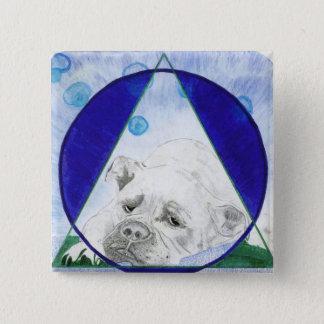 Bóton Quadrado 5.08cm Botão do cão de Bull