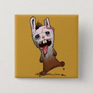 Bóton Quadrado 5.08cm Botão do coelho do zombi