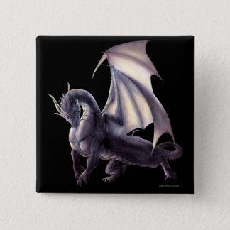 Bóton Quadrado 5.08cm Botão do dragão da caverna