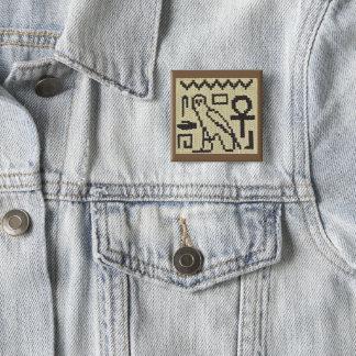 Bóton Quadrado 5.08cm Botão do espeto do impressão do Crochet dos