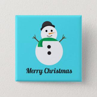 Bóton Quadrado 5.08cm Botão do feriado do quadrado do boneco de neve do