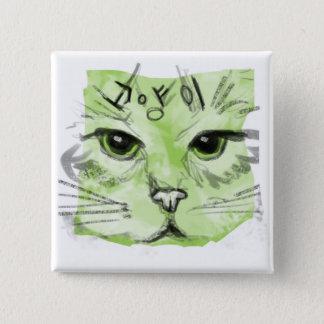 Bóton Quadrado 5.08cm Botão do gato