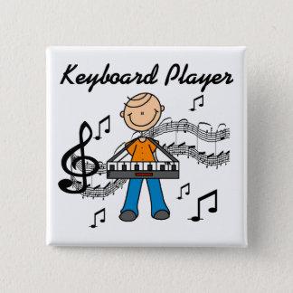 Bóton Quadrado 5.08cm Botão do jogador de teclado