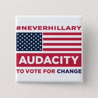 Bóton Quadrado 5.08cm Botão do #NEVERHILLARY