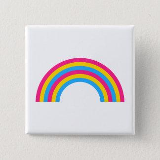 Bóton Quadrado 5.08cm Botão do orgulho do arco-íris de Pansexuality