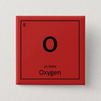 Bóton Quadrado 5.08cm Botão do oxigênio