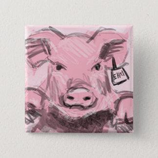 Bóton Quadrado 5.08cm Botão do porco