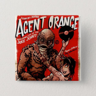 """Bóton Quadrado 5.08cm Botão do punk da """"criatura"""" de Agent Orange -"""