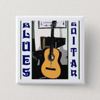 Bóton Quadrado 5.08cm Botão do quadrado da guitarra dos azuis