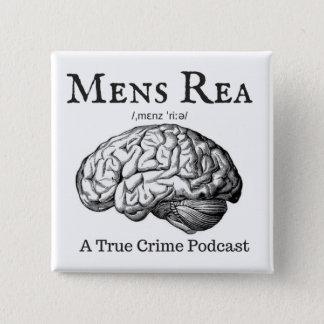 Bóton Quadrado 5.08cm Botão do quadrado do logotipo de Rea dos homens