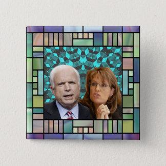 Bóton Quadrado 5.08cm Botão do quadrado do mosaico de McCain/Palin