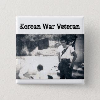 Bóton Quadrado 5.08cm Botão do quadrado do veterano de Guerra da Coreia