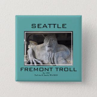 Bóton Quadrado 5.08cm Botão do troll de Seattle Fremont