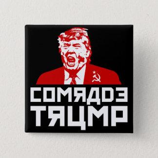"""Bóton Quadrado 5.08cm Botão do trunfo: """"CAMARADA TRUNFO"""" (preto)"""
