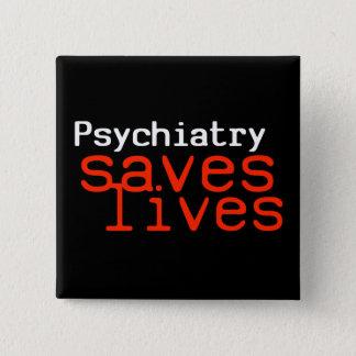 Bóton Quadrado 5.08cm Botão dramático do Pro-Psiquiatria (quadrado)