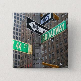 Bóton Quadrado 5.08cm Botão encadernado de Broadway