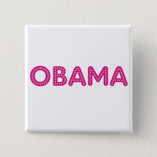 Bóton Quadrado 5.08cm Botão estrelado das luzes de Obama