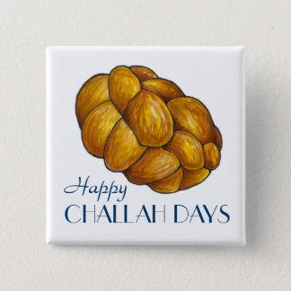 Bóton Quadrado 5.08cm Botão feliz do pão de Hanukkah Chanukah dos dias