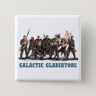 Bóton Quadrado 5.08cm Botão galáctico dos gladiadores