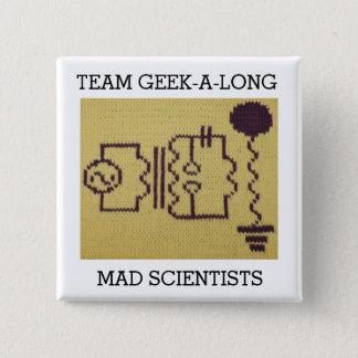 Bóton Quadrado 5.08cm Botão Geek-UM-Longo de 2015 equipes