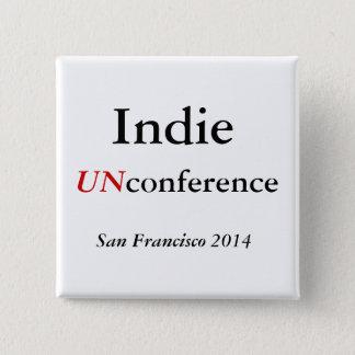 Bóton Quadrado 5.08cm Botão Indie de UNconference