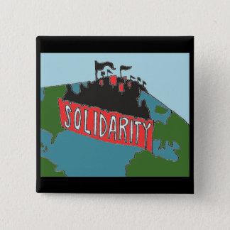 Bóton Quadrado 5.08cm Botão internacional da solidariedade