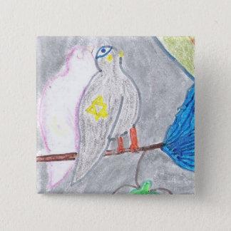 Bóton Quadrado 5.08cm Botão Kosher do pombo