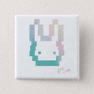 Bóton Quadrado 5.08cm Botão oficial do logotipo de BelleBunny