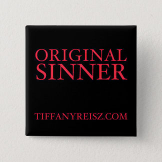 Bóton Quadrado 5.08cm Botão original do pecador