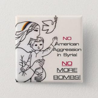 Bóton Quadrado 5.08cm Botão pacífico de Syria