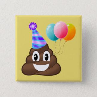 Bóton Quadrado 5.08cm Botão Partying do aniversário do tombadilho de
