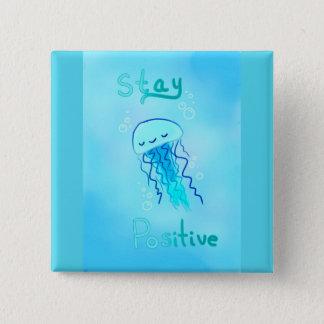 Bóton Quadrado 5.08cm Botão positivo das medusa da estada