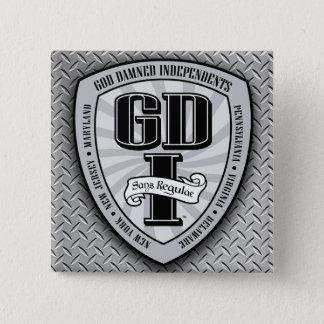Bóton Quadrado 5.08cm Botão quadrado 1 de GDI