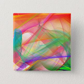 Bóton Quadrado 5.08cm Botão quadrado colorido extravagante artístico