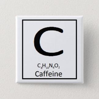 Bóton Quadrado 5.08cm Botão quadrado da cafeína, 2 dentro